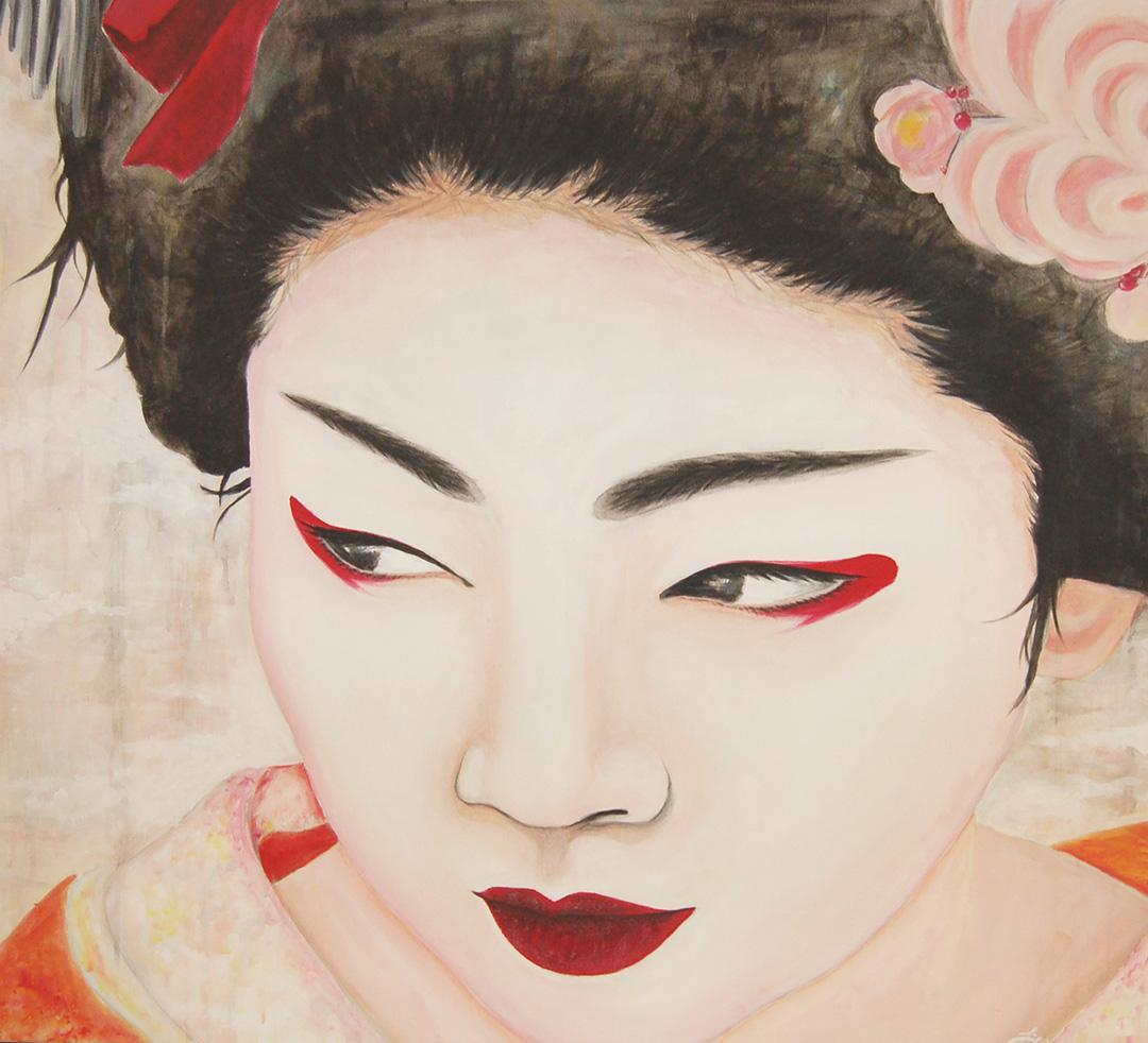 painting of a geisha