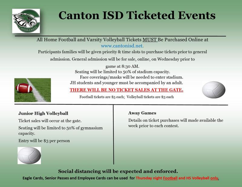 Canton ISD Ticket Information for Athletic Events Featured Photo