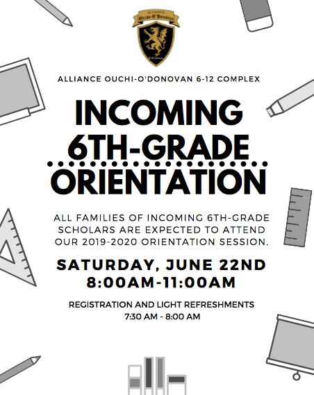 Incoming 6th Grade Orientations/Orientaciones entrantes de 6º grado Thumbnail Image