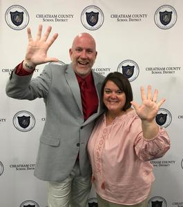 HHS Principal Dr. Lee Rector and Assistant Principal Shannon Schliwa