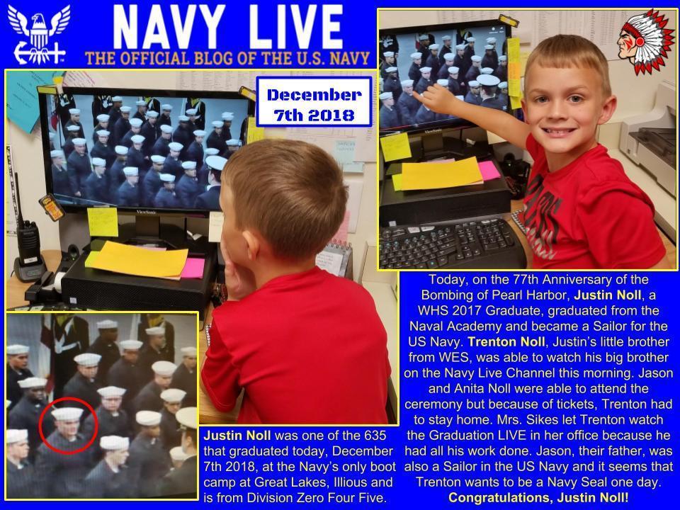 Navy Grad from Winnsboro Texas 2018