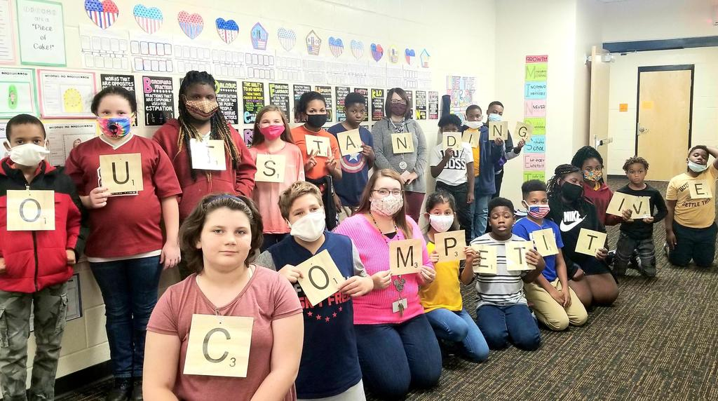 Picture of Ms. Matthew's class on word day homecoming 2020