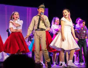 Photo of Roosevelt students performing in Bye Bye Birdie