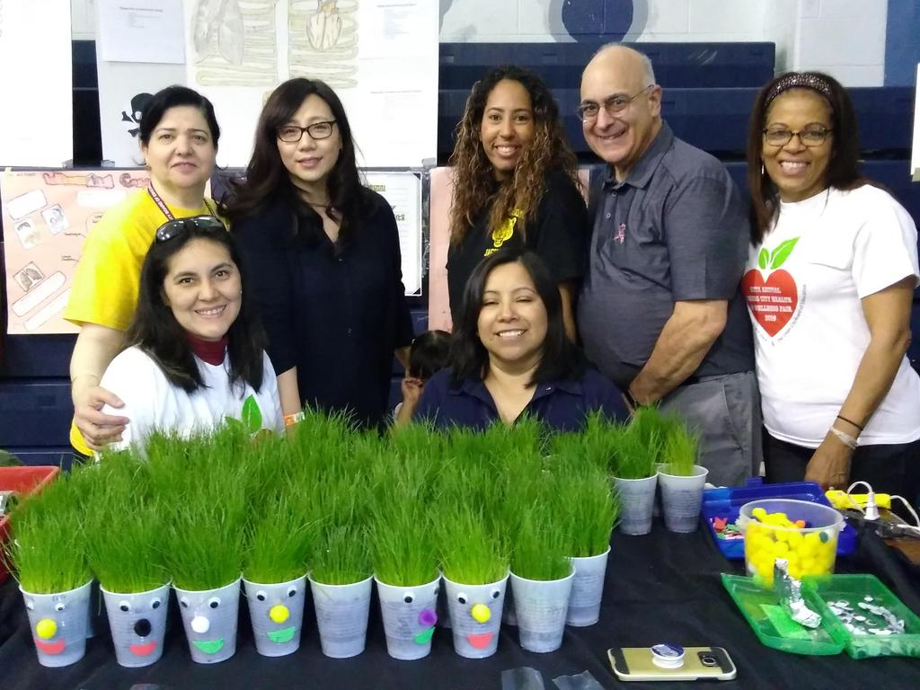 grass in a cup with Jefferson staff along with Mr. Dragona