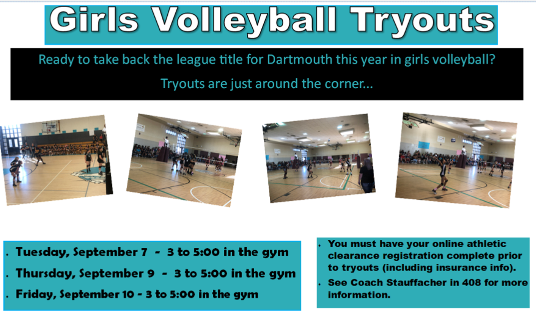 Girls Volleyball Tryout Information