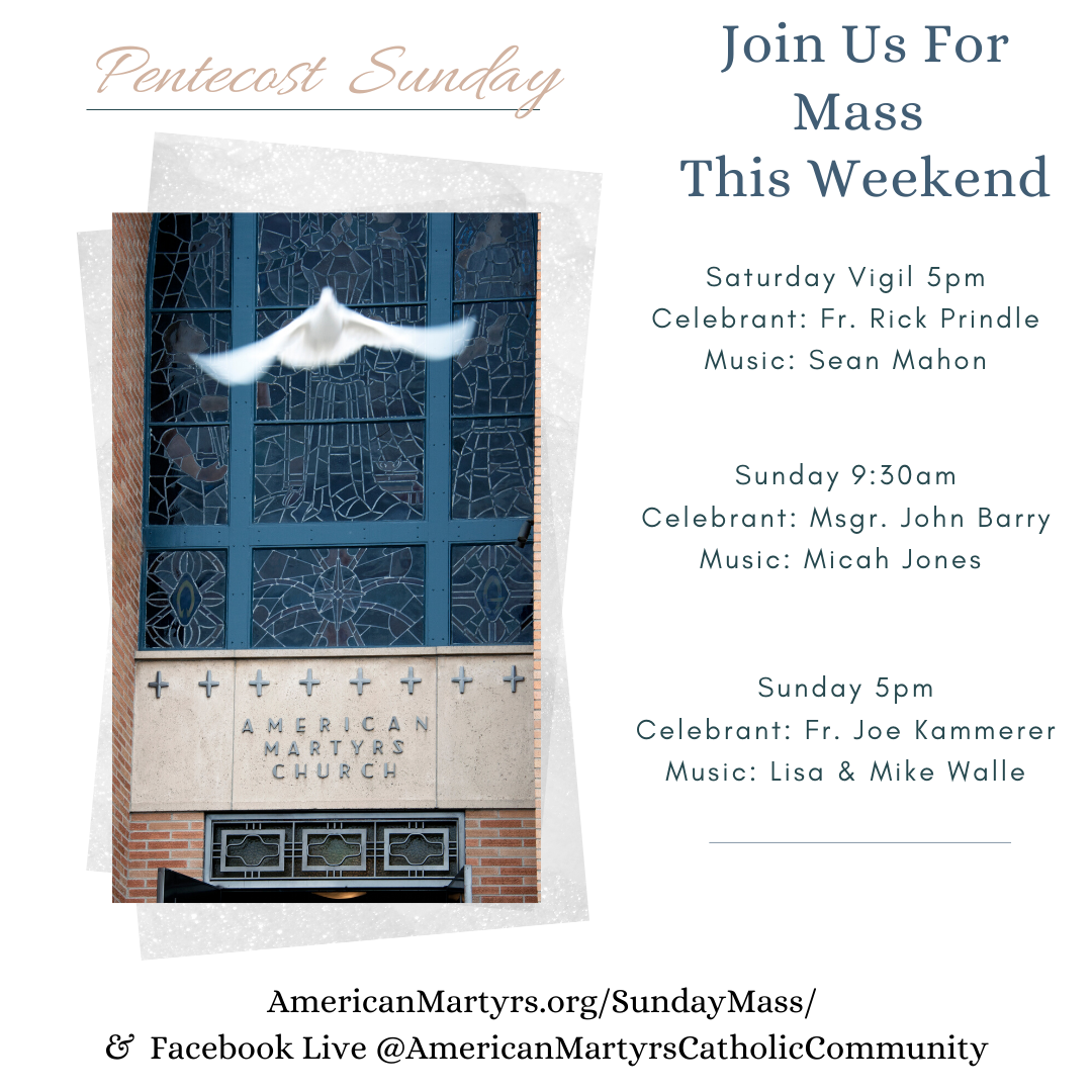 Join us virtually this weekend for Pentecost Sunday! Image