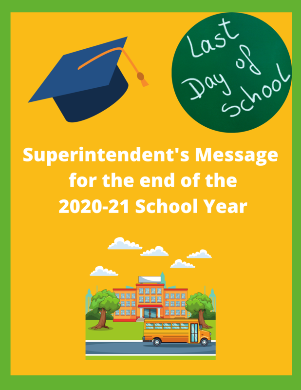 Superintendent's Message for 2020-21 school year