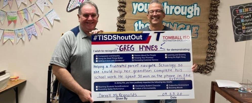 NIS Shout Out Greg Hynes