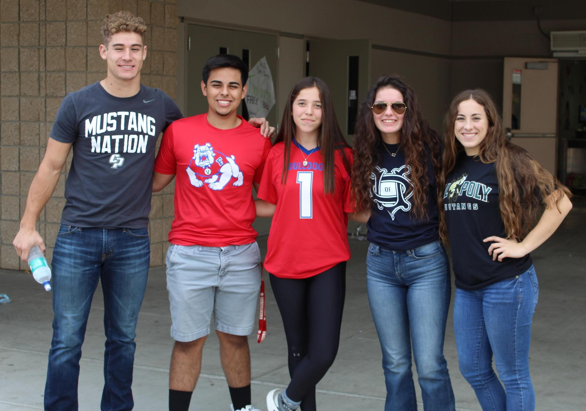 Students and Staff wearing College T-Shirts on Tuesday