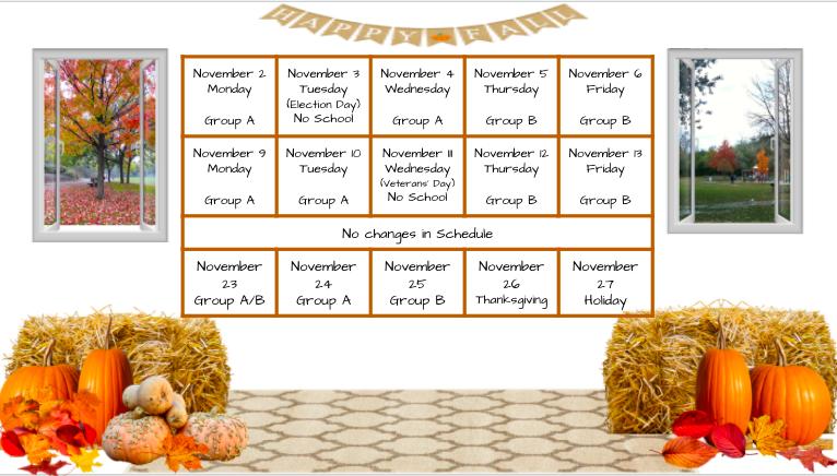 November Revised Schedule