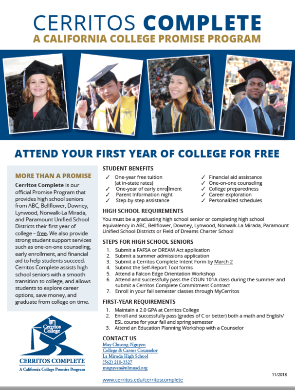 Cerritos Complete Program - Attend your first year of College for FREE!!! Featured Photo