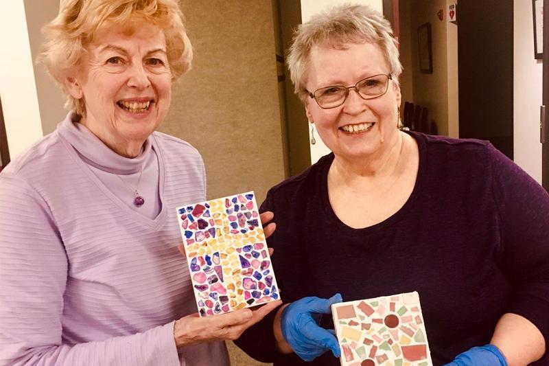 Community enjoys Mosaic Art Class Thumbnail Image