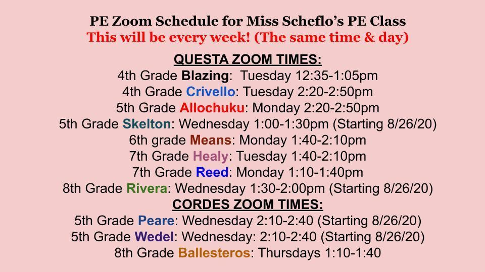 zoom times