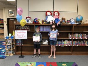 Students awarded at Honor Roll Ceremony.