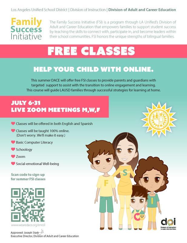 Family Success, Free online classes Thumbnail Image