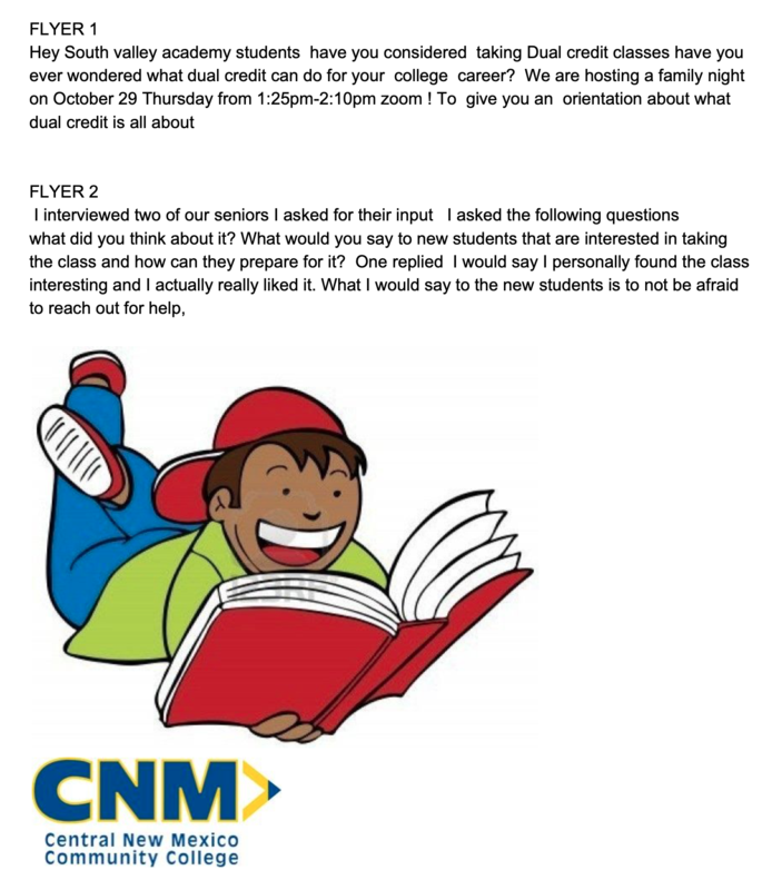 CNM Dual Credit Flyer
