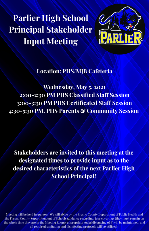 Parlier High School Principal Stakeholder Input Meeting Featured Photo