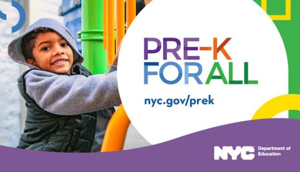 Pre-K for all, young child at playground