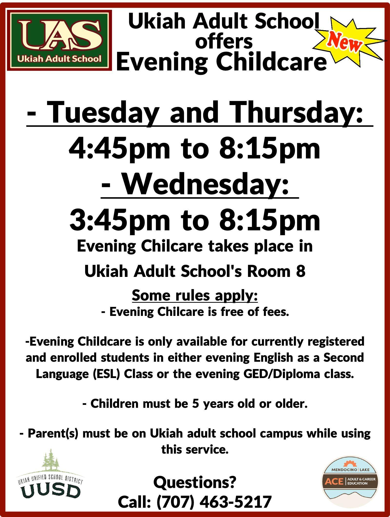 Evening Childcare poster