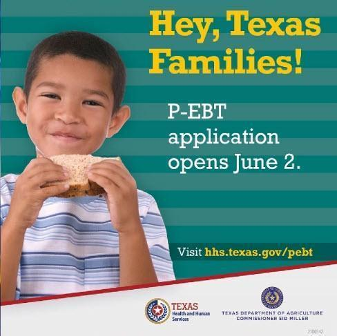 Texas Students' Food Assistance Program PEBT  opened on June 02, 2021 Thumbnail Image