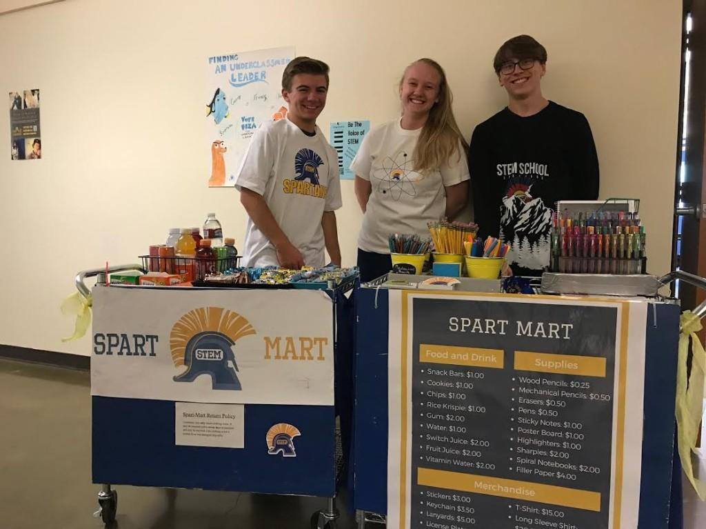 Spart Mart, the school store, opens for business.