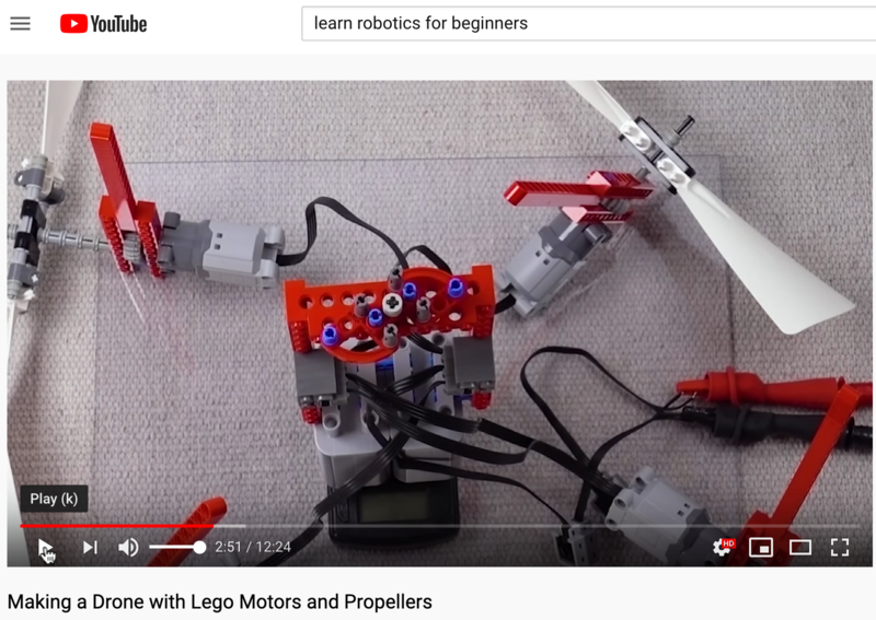 Learning about lego drones, math, science and electronics. Thumbnail Image