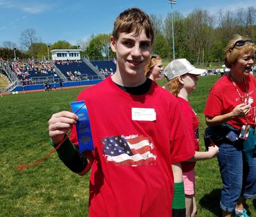 first place at special olympics