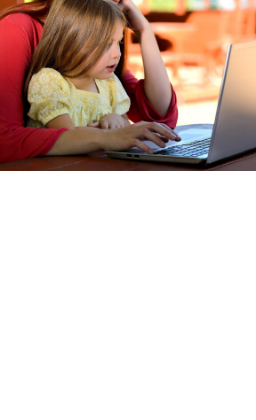 picture of girl on laptop