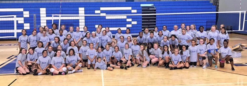 Third through ninth grade students had an opportunity to attend a Brewer Volleyball Camp this summer with new Head Coach Tony Clark.