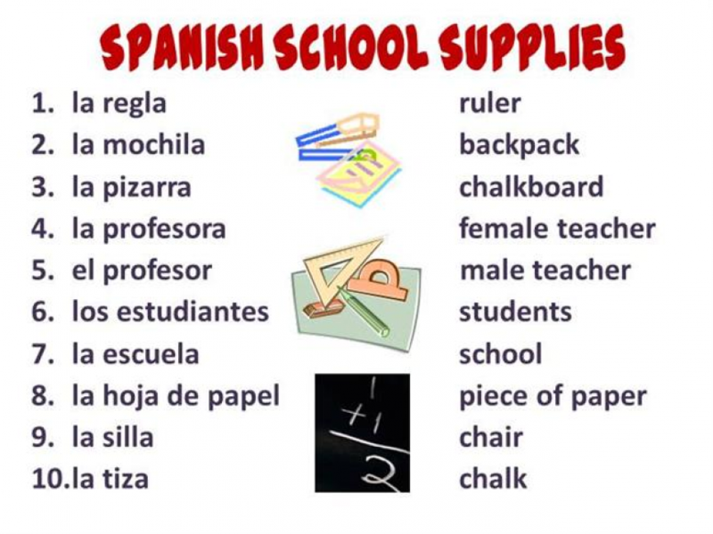 Supply List for 2021-2022 in Spanish Thumbnail Image
