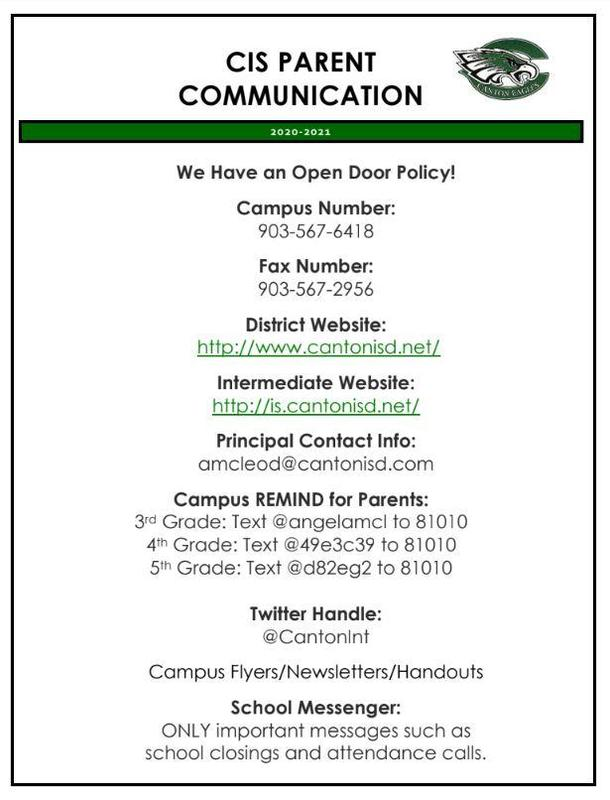 2020-2021 Campus Communication Information Featured Photo