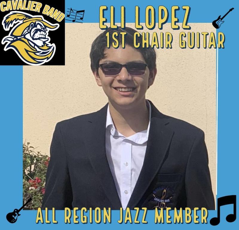 RCJH- Eli Lopez- 1st Chair Jazz Guitar- TMEA All Region Jazz Band