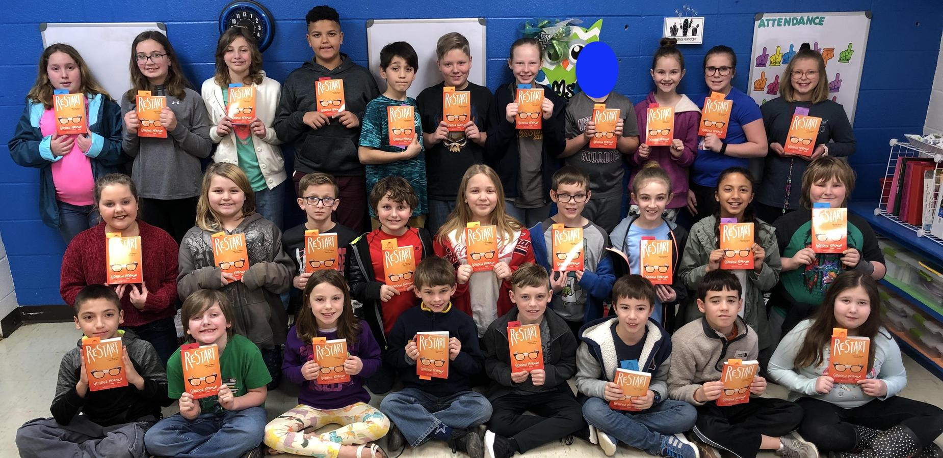 Tishomingo County Junior Auxiliary Donates Books to TES Fourth Graders