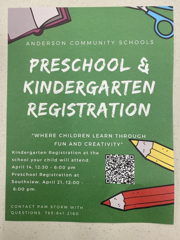 Preschool kindergarten registration