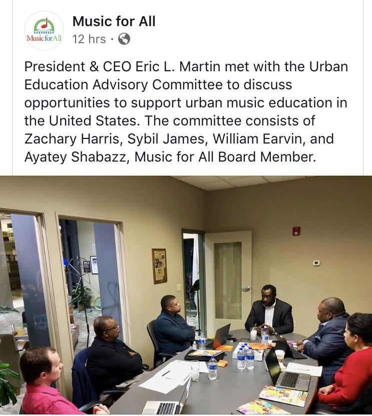 screen photo of Earvin meeting with national music committee