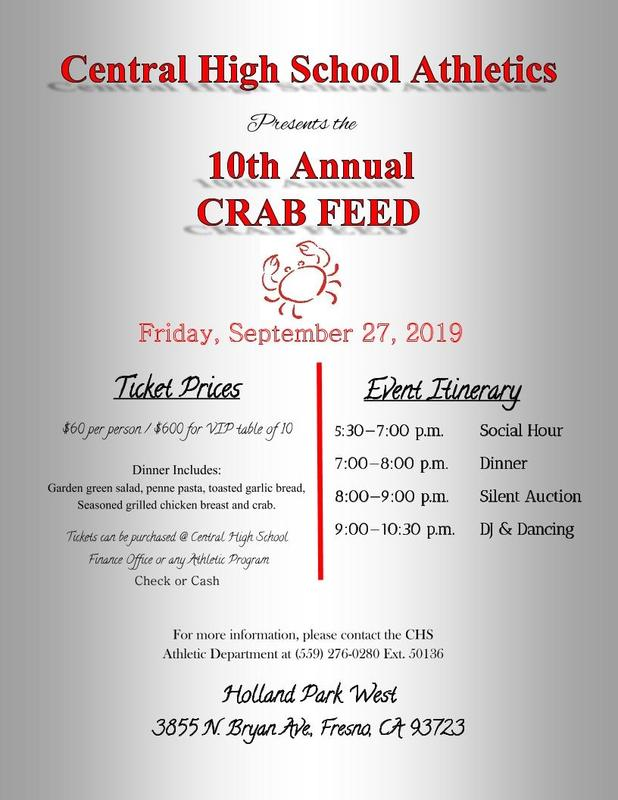Central High Athletics Crab Feed