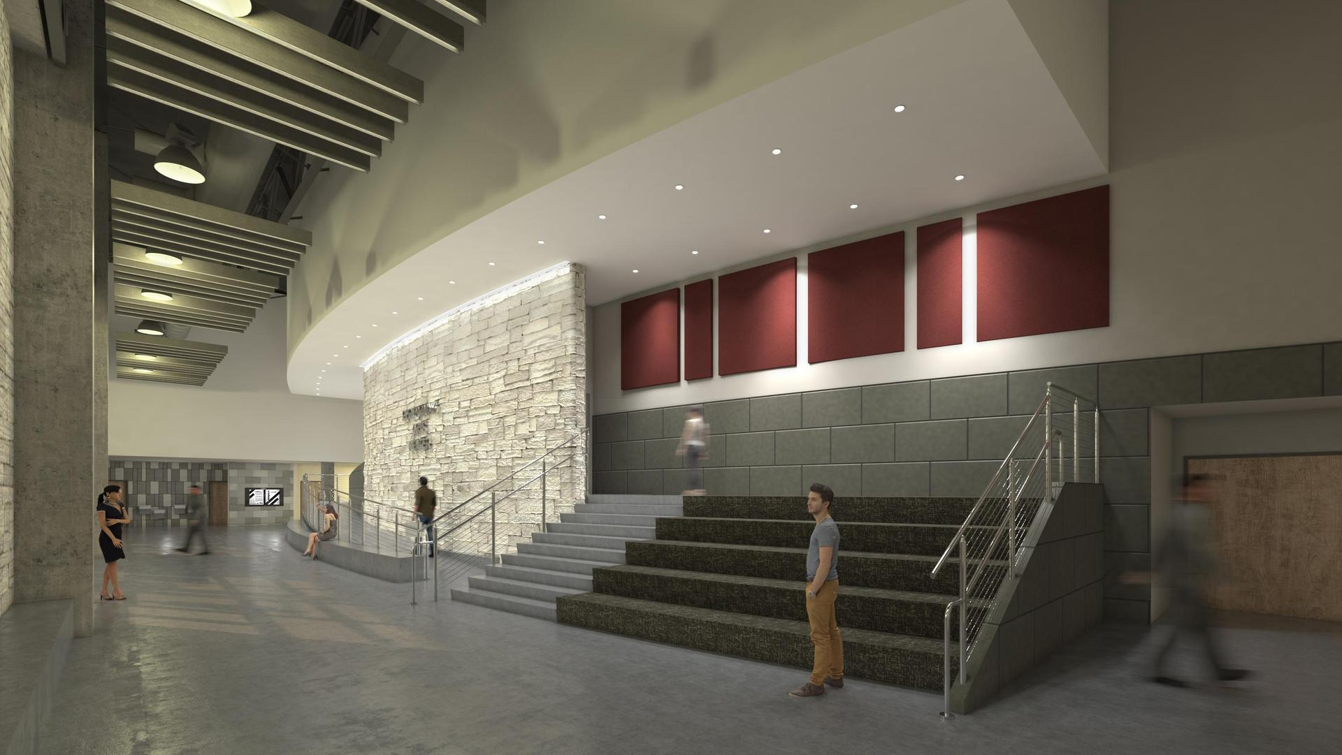 rendering of performing arts center