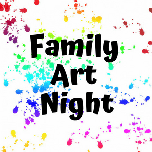 Shows:  Family Art Night with random painted background