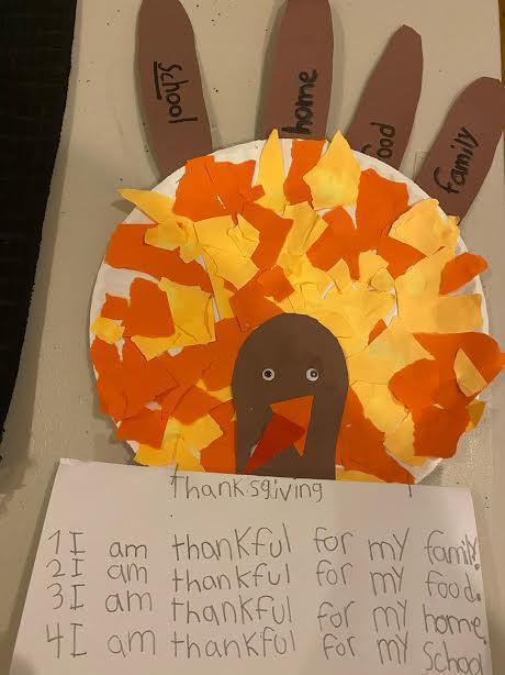 Thankful turkey project
