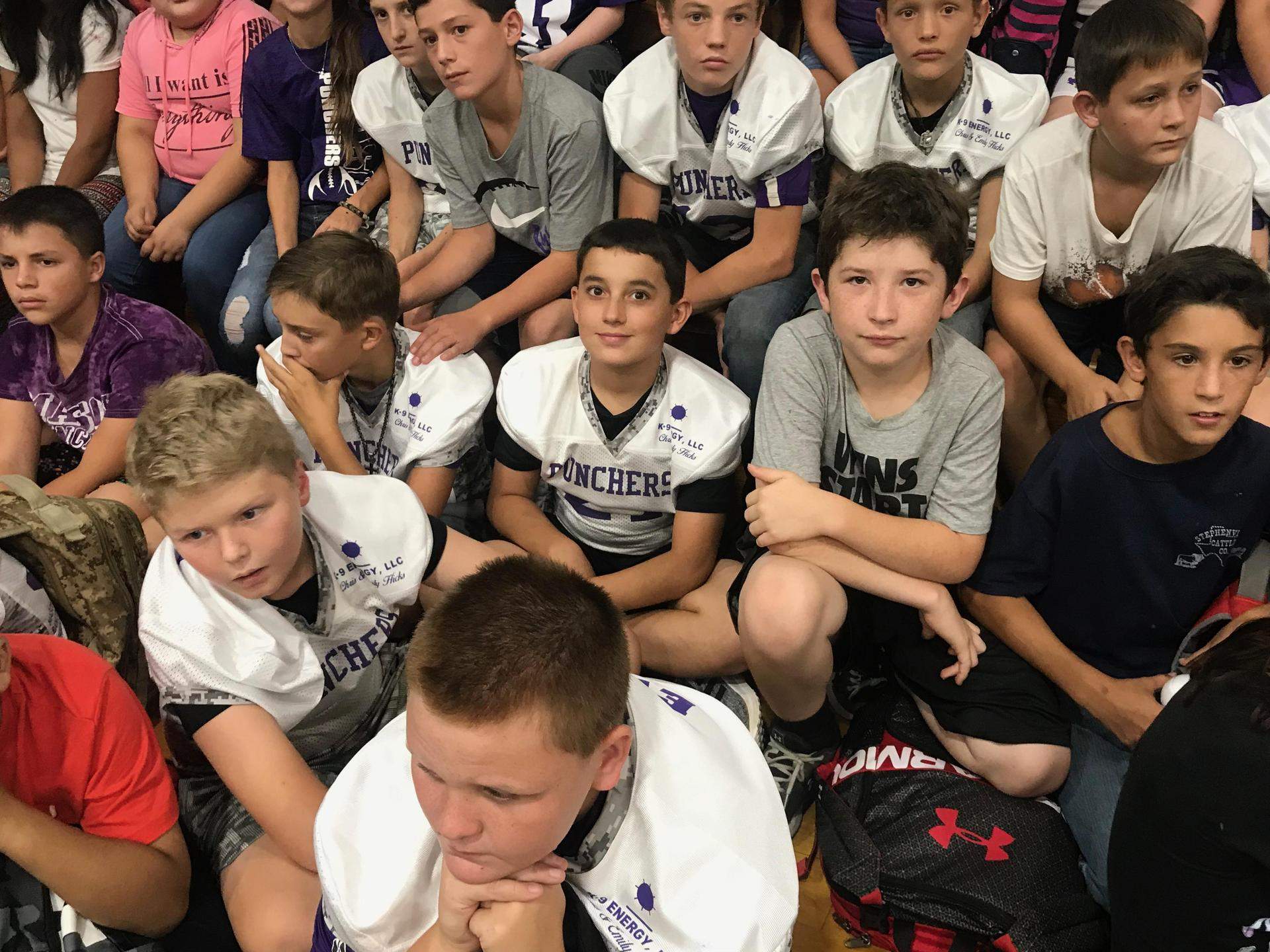 Little Punchers ready for the pep rally!