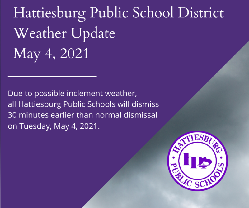 Hattiesburg Public Schools Closing Early Due to Possible Severe Weather Featured Photo
