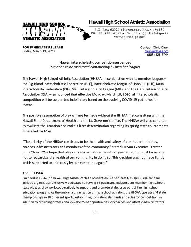 2020-03-13 PRESS RELEASE Hawaii schools to suspend competition COVID-19.jpg