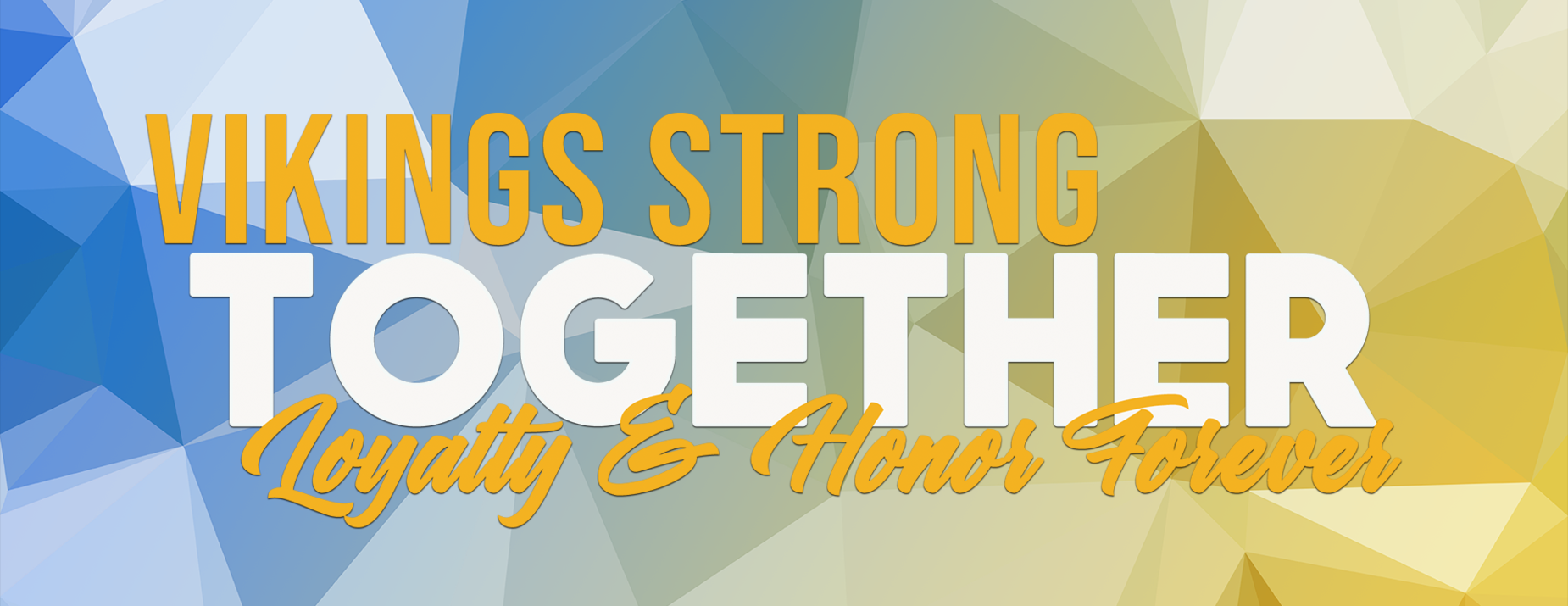 Theme for SY 20-21: Vikings Strong Together, Loyalty and Honor Forever