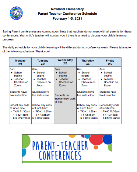 Parent Teacher Conference Week Featured Photo