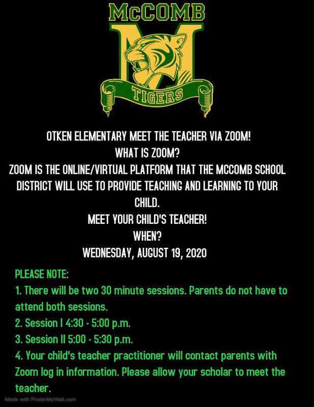 Otken Elementary Meet the Teacher Via Zoom!  #ItsComeBackTime