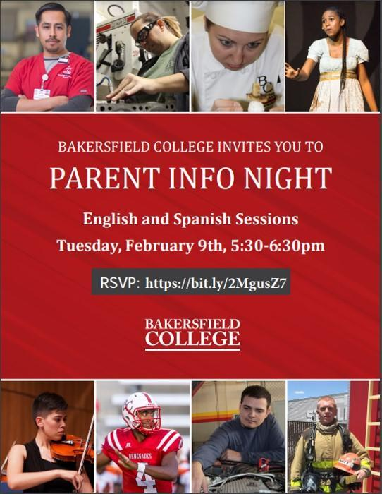 BC Parent Night 2021