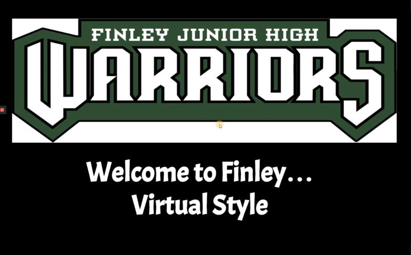 Finley 5th grade virtual orientation graphic