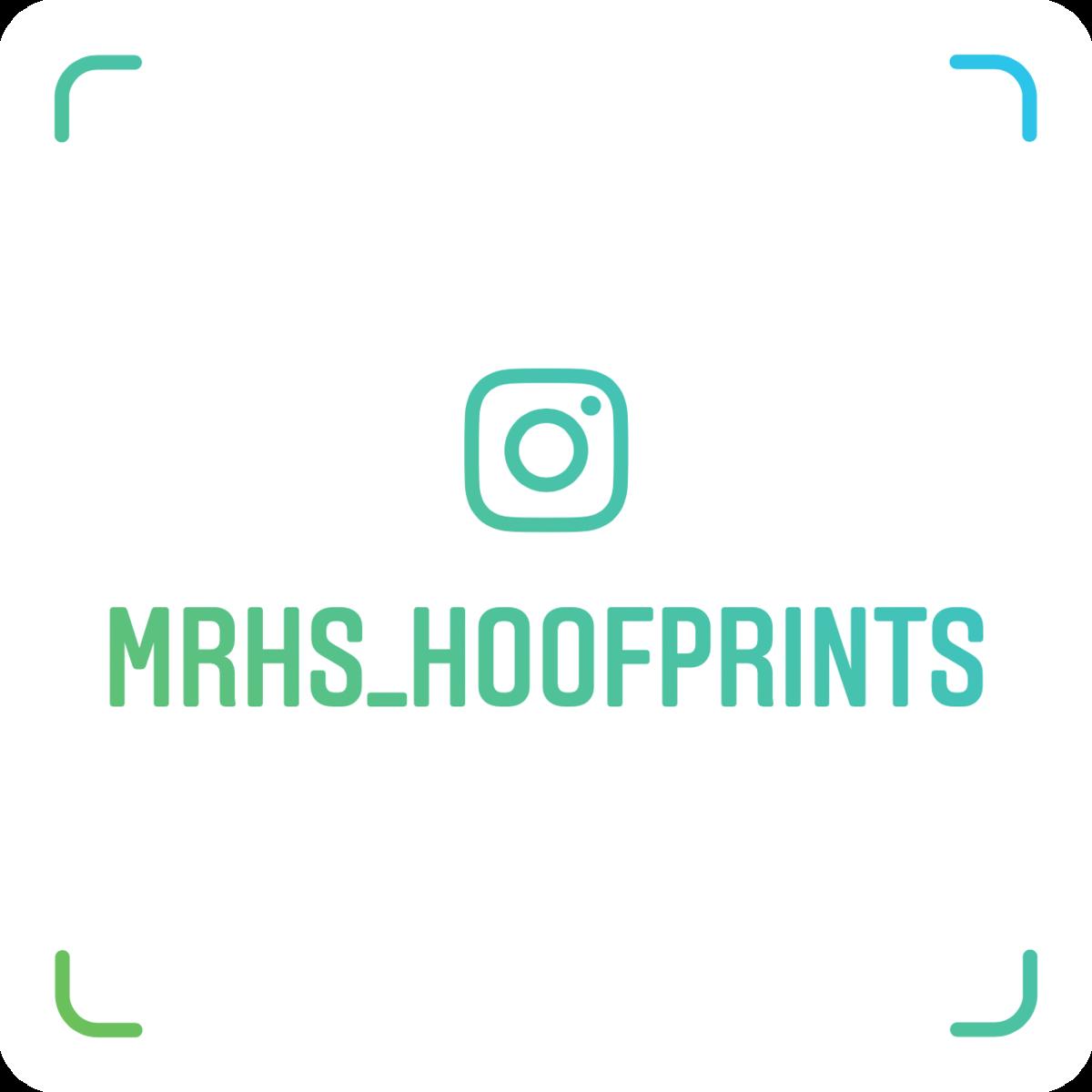 MRHS Hoofprints Instagram Nametag @MRHS_Hoofprints
