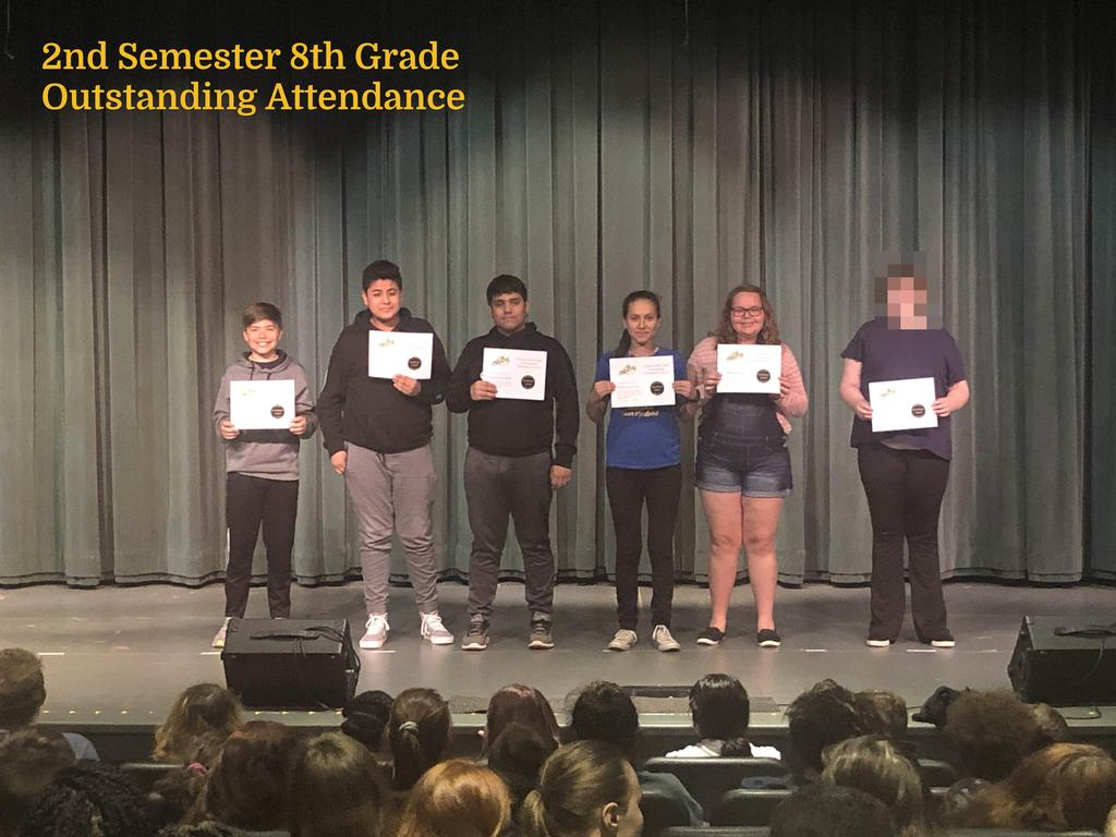 S2 8th Grade Outstanding Attendance