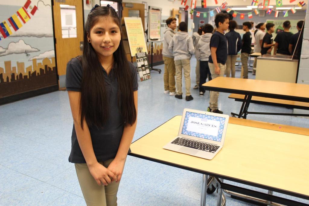 girl with digital presentation on jose garces